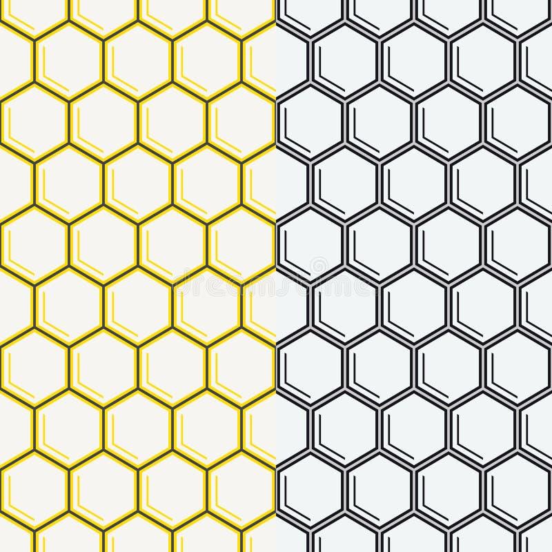 Modelo inconsútil del vector del panal Fondo geométrico libre illustration