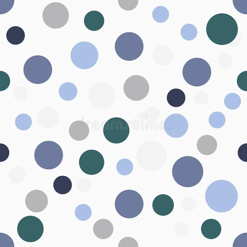 Modelo inconsútil del vector, dibujo de los círculos ilustración del vector