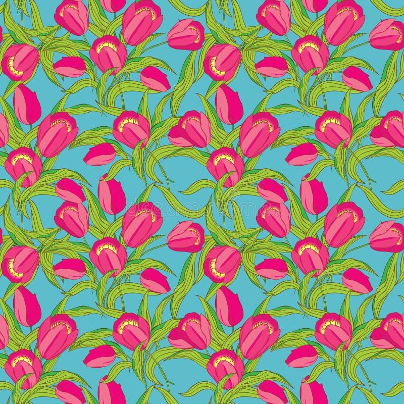 Modelo inconsútil del vector floral stock de ilustración