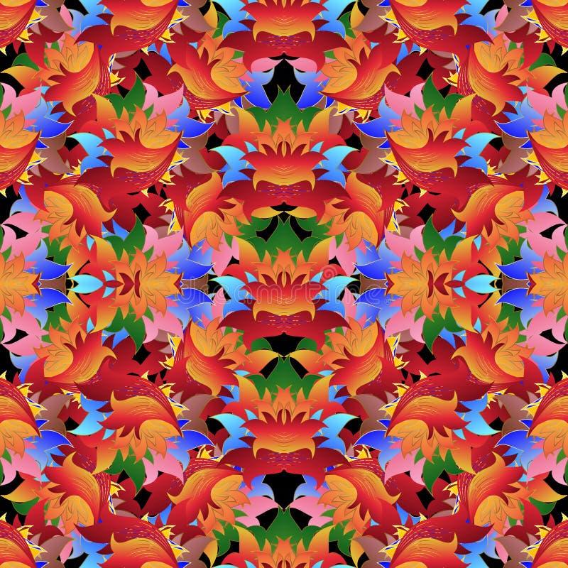 Modelo inconsútil del vector floral colorido brillante Repea multicolor libre illustration