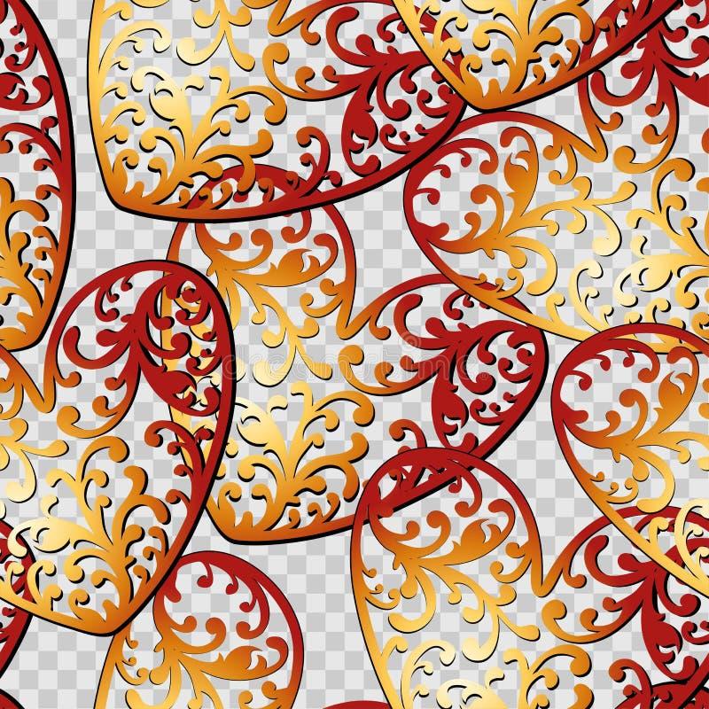 Modelo inconsútil del vector del fondo de los corazones El ejemplo sin fin se puede utilizar para el papel pintado, terraplenes d libre illustration