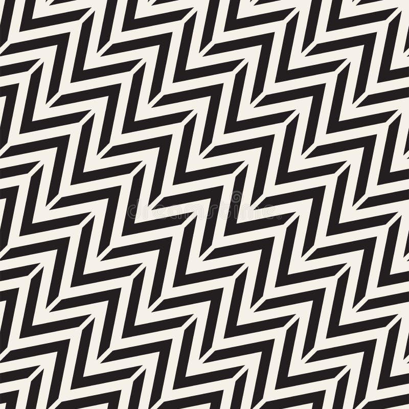 Modelo inconsútil del vector Fondo geométrico abstracto del enrejado Estructura rítmica del zigzag Textura monocromática con libre illustration