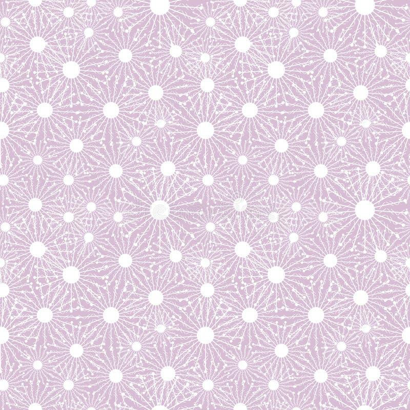 Modelo inconsútil del vector Fondo rosa claro del invierno estacional con los copos de nieve del blanco del primer ilustración del vector