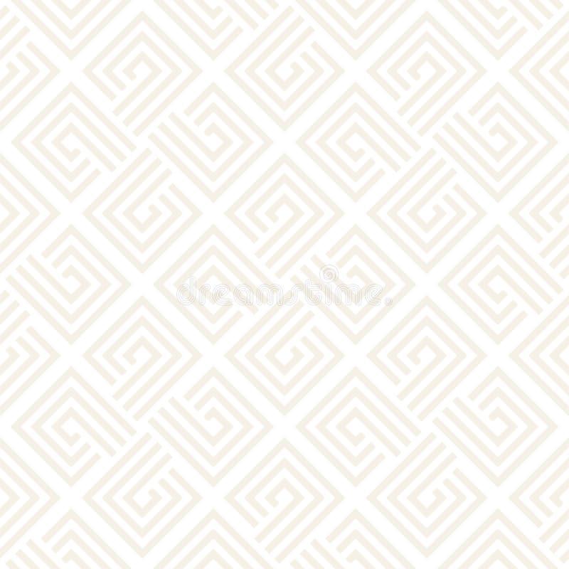 Modelo inconsútil del vector Geométrico abstracto Estructura linear de la rejilla libre illustration