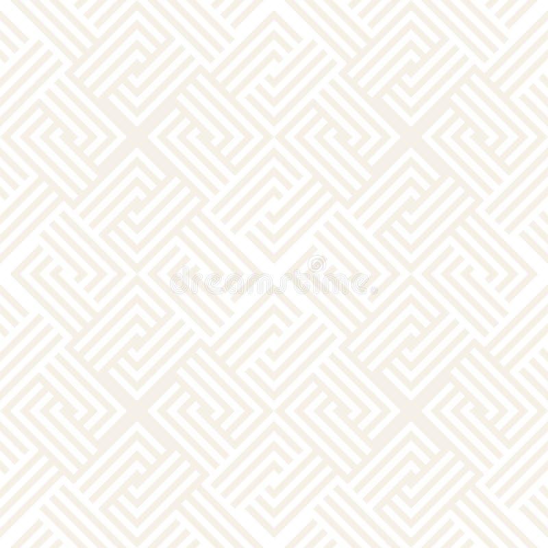 Modelo inconsútil del vector Geométrico abstracto Estructura linear de la rejilla ilustración del vector