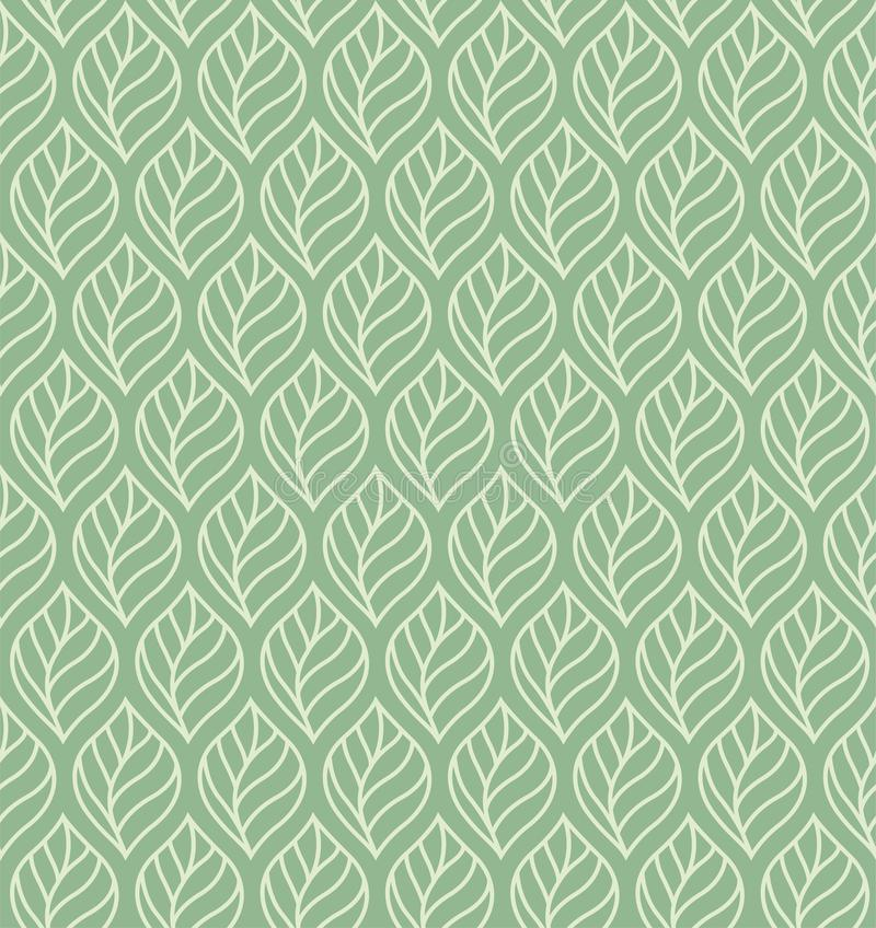 Modelo inconsútil del vector geométrico de las hojas Textura abstracta del vector Fondo de la hoja ilustración del vector