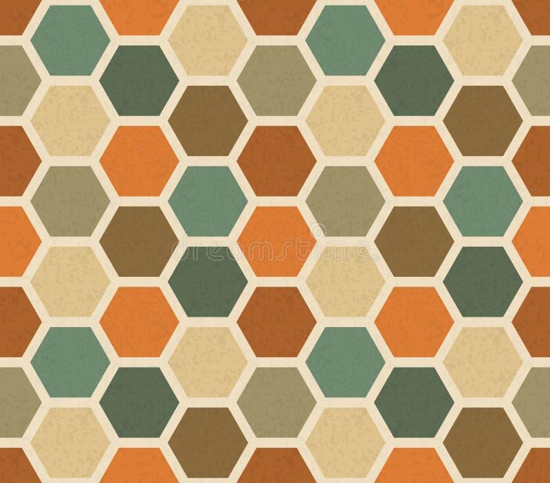 Modelo inconsútil del vector hexagonal del vintage libre illustration
