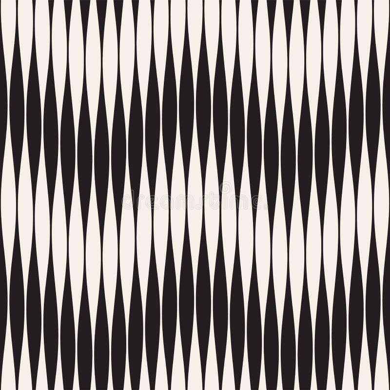 Modelo inconsútil del vector ondulado de las rayas Textura ondulada retra del grabado Líneas geométricas diseño del zigzag n ilustración del vector