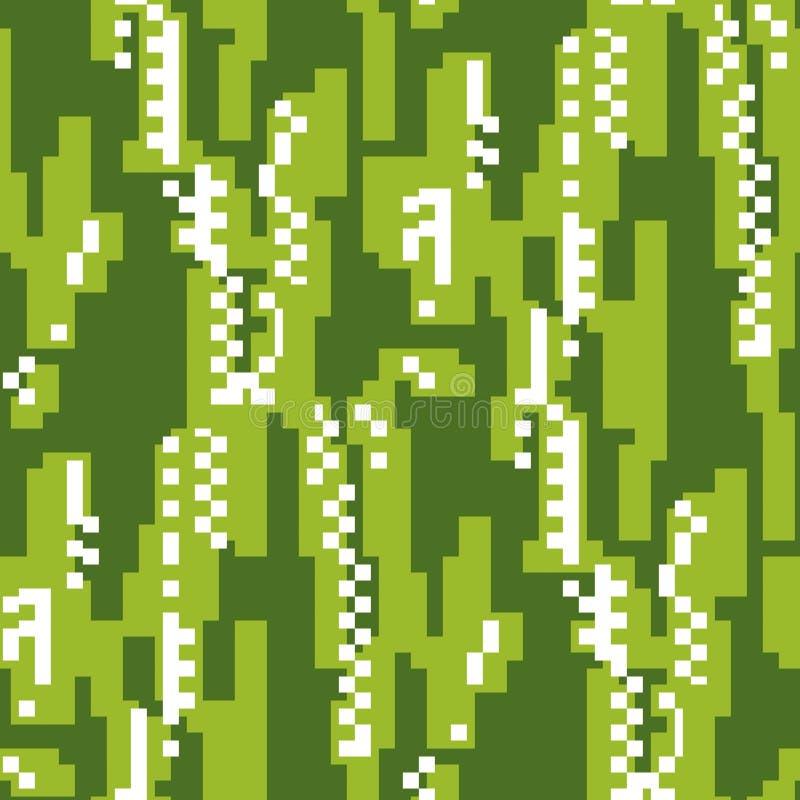 Modelo inconsútil del vector plano de la interferencia del estilo del pixel libre illustration