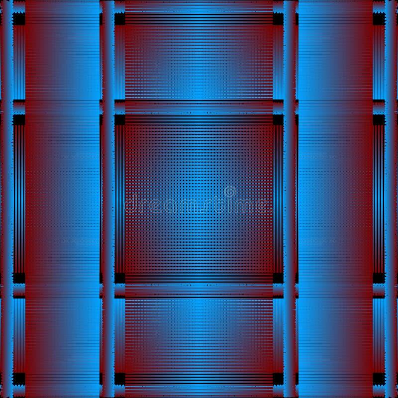 Modelo inconsútil del vector rayado del grunge 3d Fondo azul texturizado de la tela escocesa Contexto sucio de la repetición del  libre illustration
