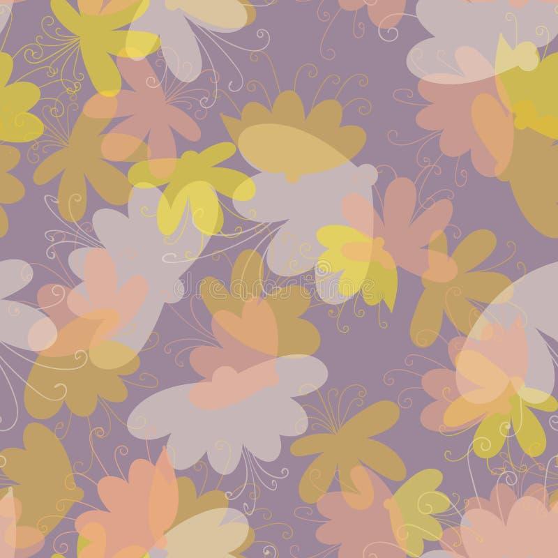 Modelo inconsútil del vector del sueño de la flor en colores en colores pastel libre illustration
