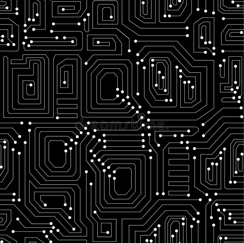 Modelo inconsútil del vector técnico de la placa de circuito libre illustration