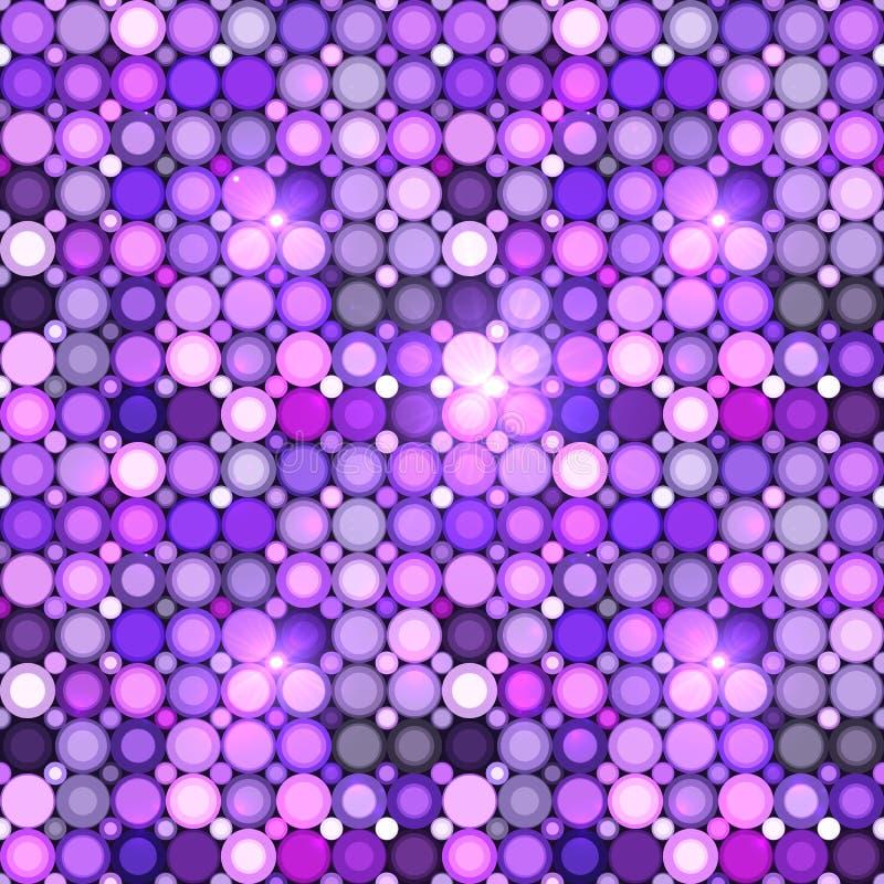 Modelo inconsútil del vector violeta abstracto de los círculos stock de ilustración