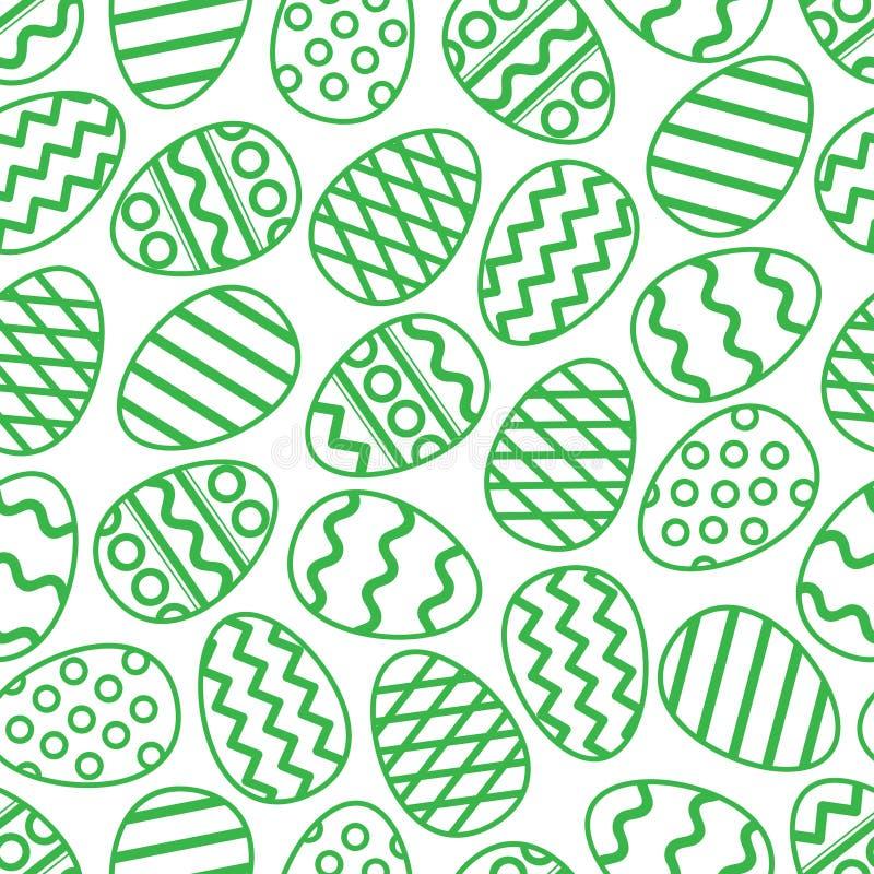 Modelo inconsútil del verde de los huevos de Pascua Ilustración del vector ilustración del vector
