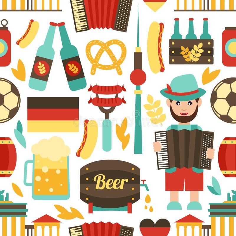 Modelo inconsútil del viaje de Alemania libre illustration