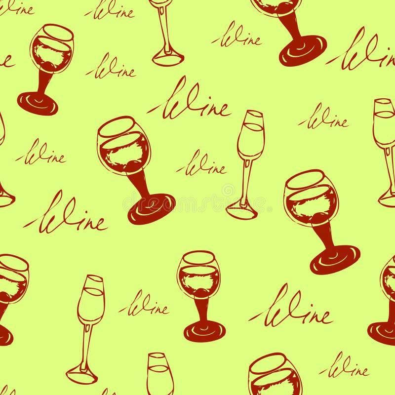 Modelo inconsútil del vino fotografía de archivo
