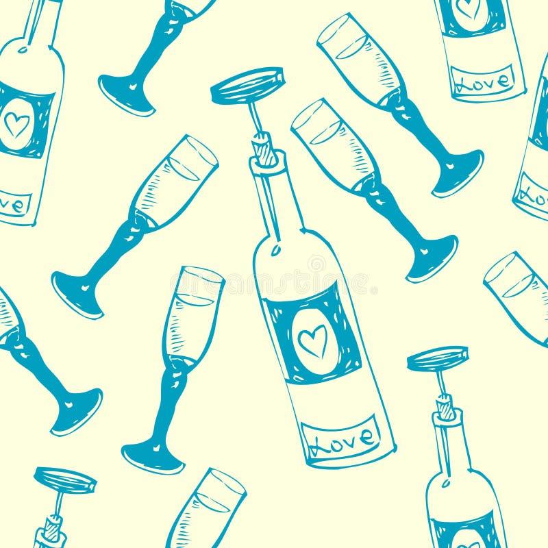 Modelo inconsútil del vino imagen de archivo