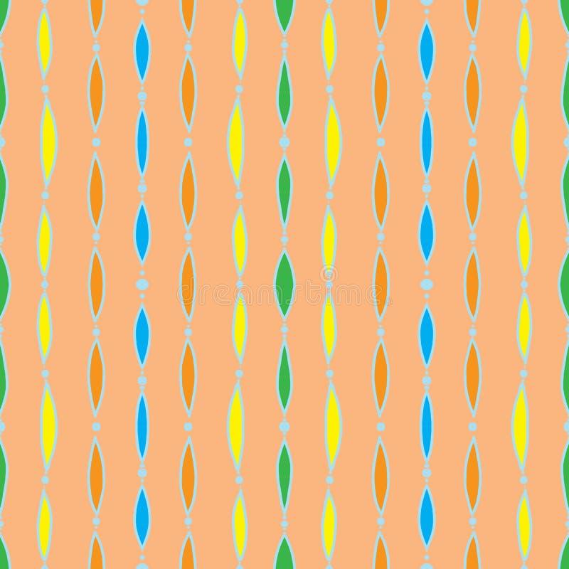 Modelo inconsútil del vintage, materia textil de 60s 70s ilustración del vector