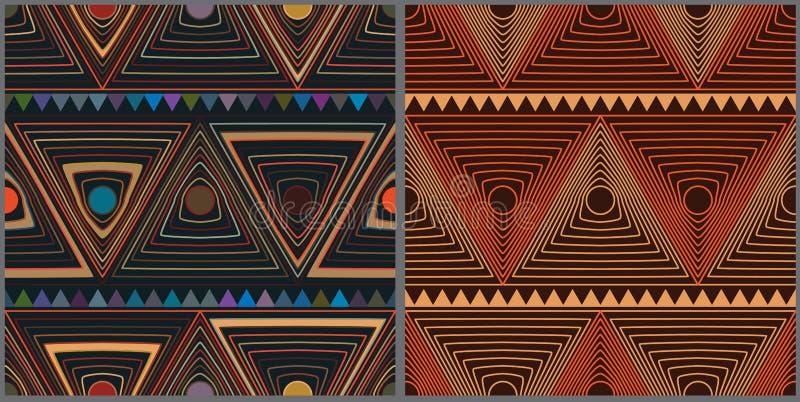 Modelo inconsútil determinado del estilo del triángulo del círculo stock de ilustración