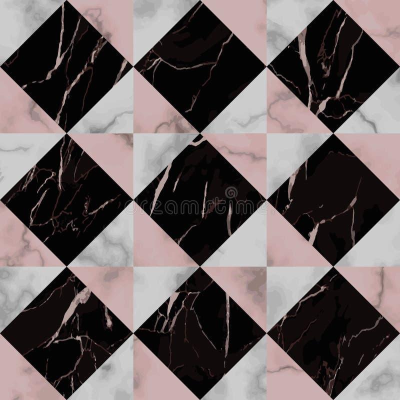 Modelo inconsútil diagonal del control de lujo de mármol libre illustration