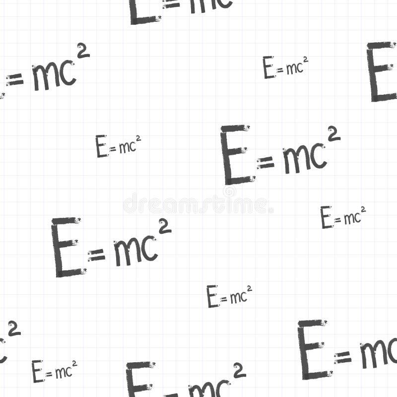 Modelo inconsútil E=mc2 ilustración del vector
