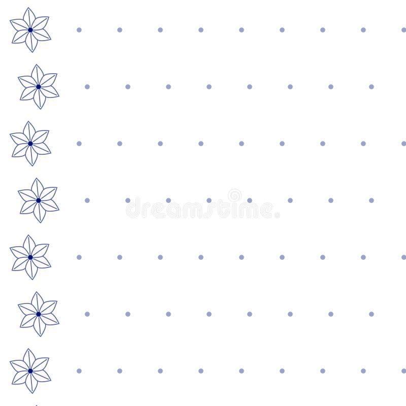Modelo inconsútil - el igual alinea los floretes y los pequeños círculos libre illustration