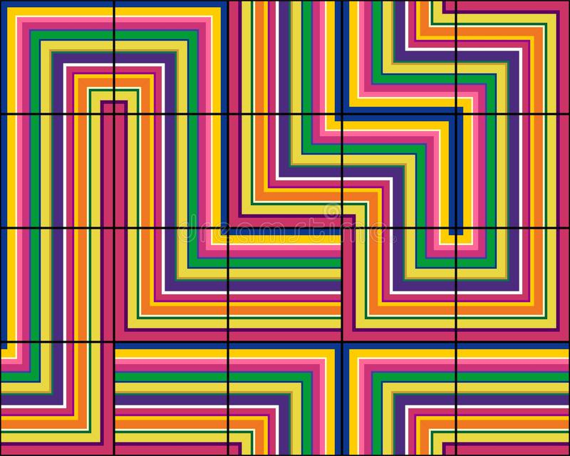 Modelo inconsútil elegante de tejas en rayas multicoloras libre illustration