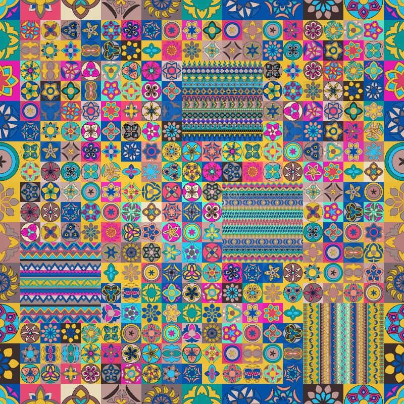 Modelo inconsútil Elementos decorativos de la vendimia Fondo dibujado mano Islam, árabe, indio, adornos del otomano fotos de archivo libres de regalías