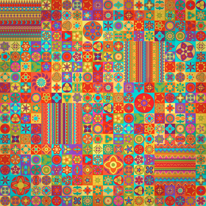 Modelo inconsútil Elementos decorativos de la vendimia Fondo dibujado mano Islam, árabe, indio, adornos del otomano Perfeccione p ilustración del vector