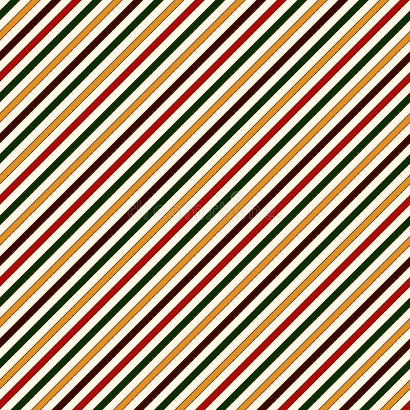 Modelo inconsútil en colores tradicionales de la Navidad Línea fina diagonal recta fondo del extracto stock de ilustración