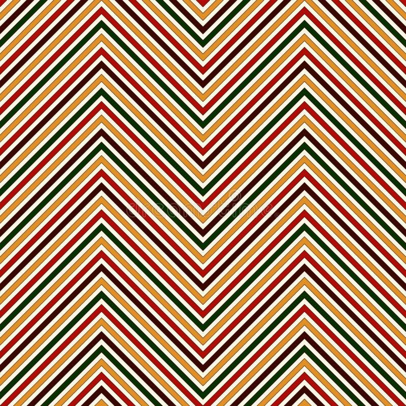 Modelo inconsútil en colores tradicionales de la Navidad La diagonal brillante de los colores de Chevron alinea el fondo abstract ilustración del vector