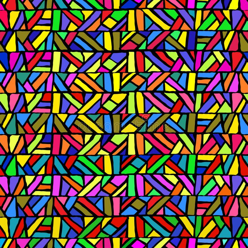 Modelo inconsútil en estilo del cristal de colores Geométrico multicolor libre illustration