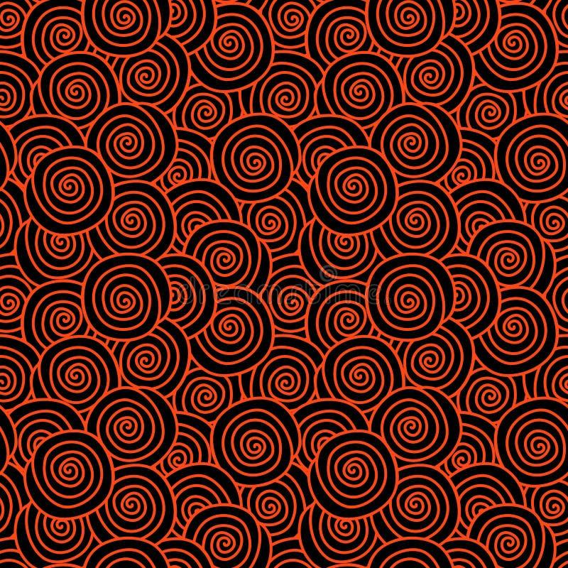 Modelo inconsútil encrespado del pelo rojo ilustración del vector