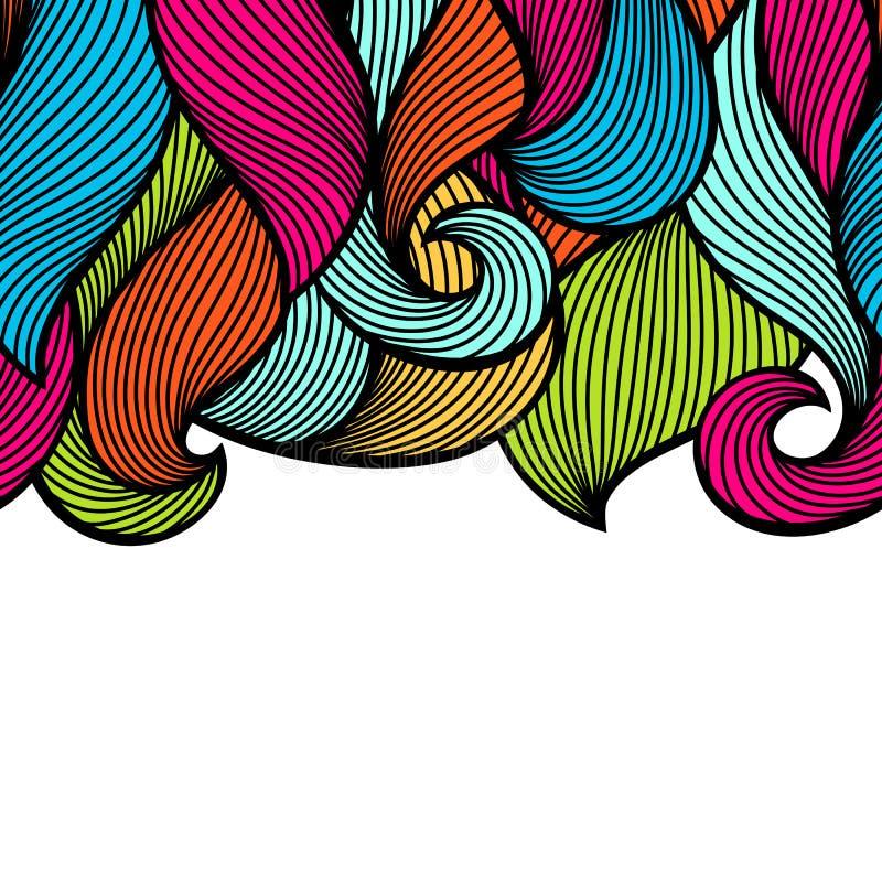 Modelo inconsútil encrespado ondulado Textura colorida del esquema abstracto libre illustration