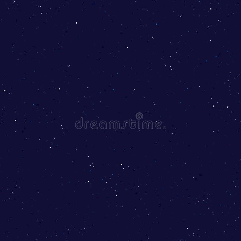 Modelo inconsútil estrellado, universo salpicado del drenaje de la mano y modelo repetible de la galaxia Puntos, pintura de espra ilustración del vector