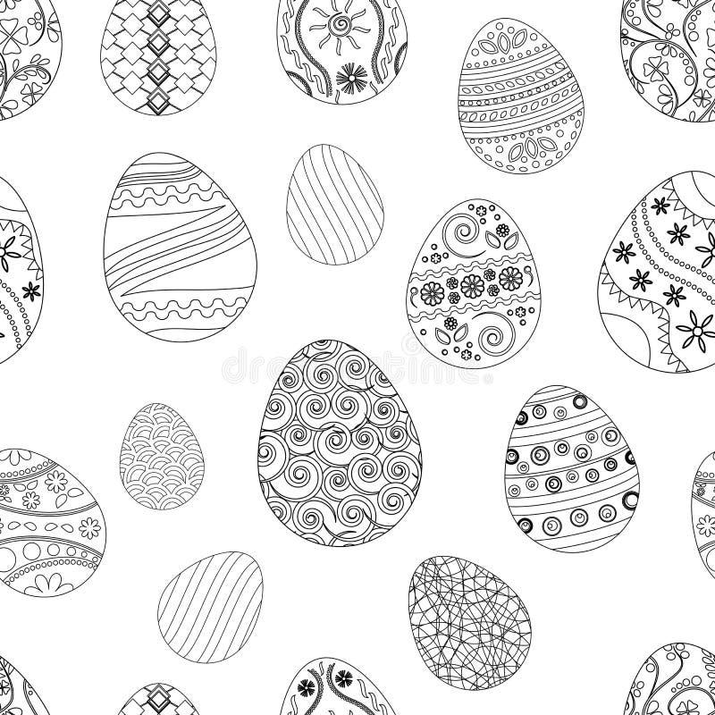 Modelo inconsútil festivo con los huevos de Pascua Ilustración del vector stock de ilustración