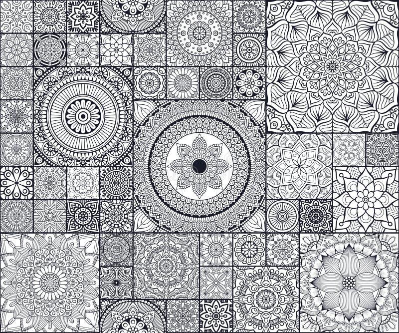 Modelo inconsútil floral étnico ilustración del vector