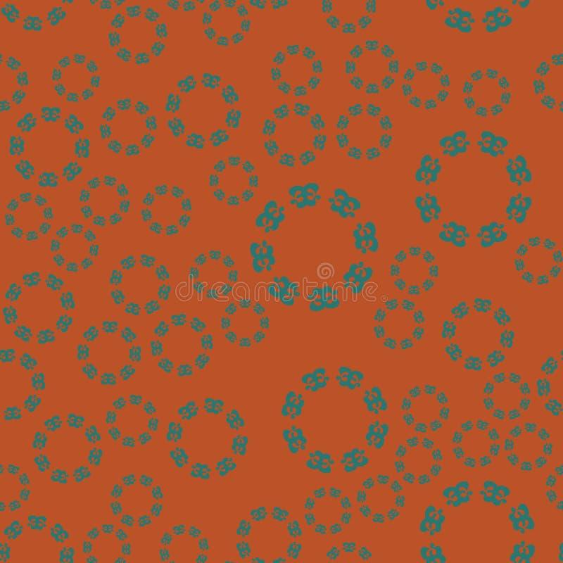 Modelo inconsútil floral étnico en marrón stock de ilustración