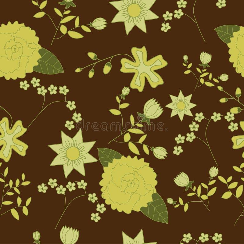 Modelo inconsútil floral foto de archivo libre de regalías