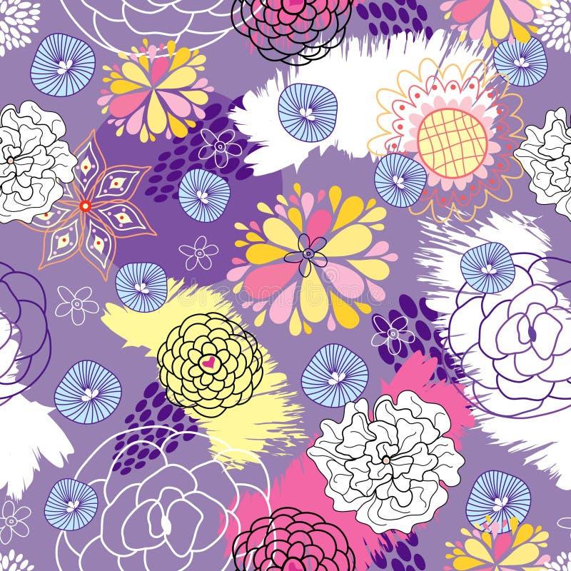 Modelo inconsútil floral ilustración del vector