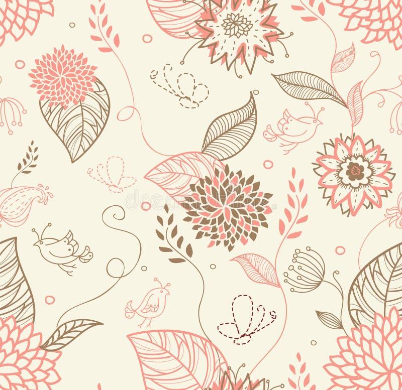 Modelo inconsútil floral stock de ilustración
