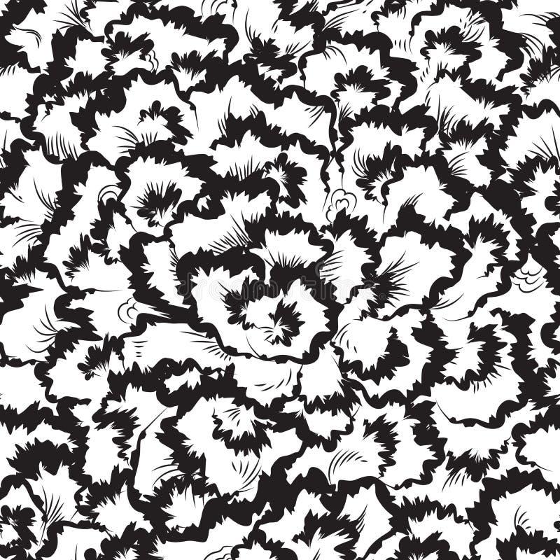Modelo inconsútil floral abstracto stock de ilustración