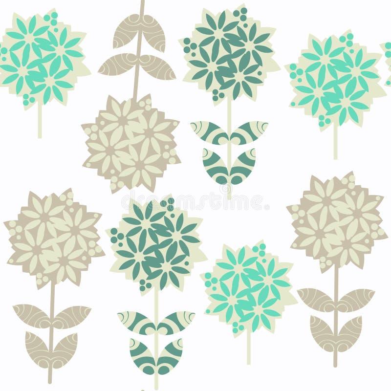 Modelo inconsútil floral abstracto Lcoated en muestra stock de ilustración