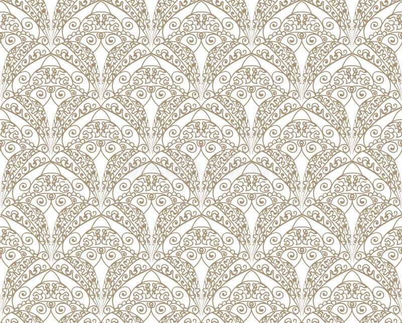 Modelo inconsútil floral abstracto Textura del brocado ilustración del vector