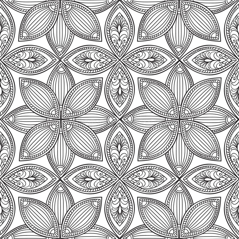 Modelo inconsútil floral abstracto Textura geométrica del ornamento ilustración del vector
