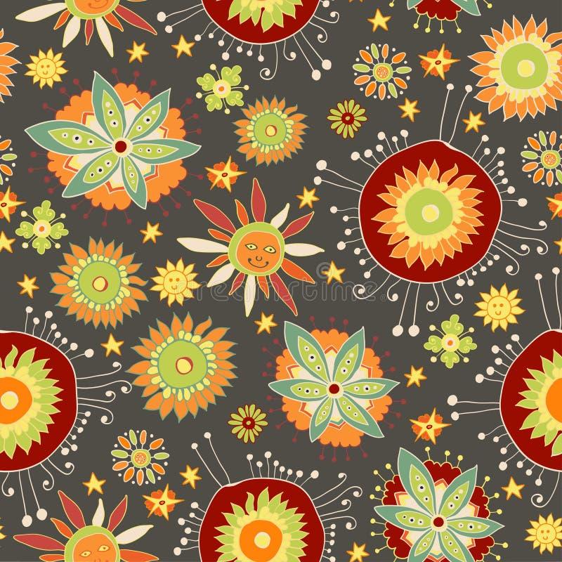 Modelo inconsútil floral adornado libre illustration