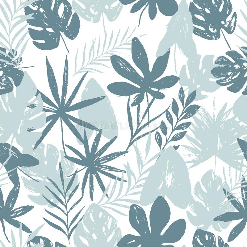 Modelo inconsútil floral brillante del verano abstracto con texturas dibujadas mano de moda libre illustration