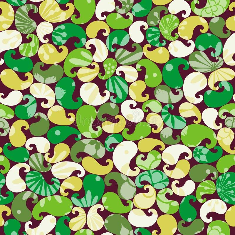 Modelo inconsútil floral colorido abstracto stock de ilustración