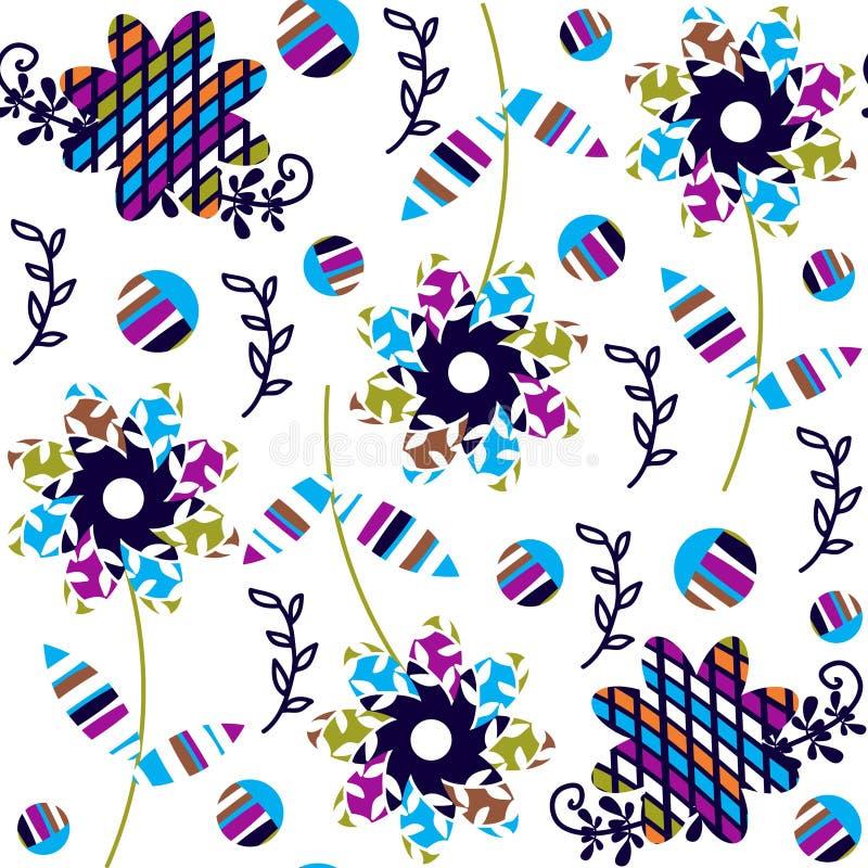 Modelo inconsútil floral colorido en colores oscuros y palmadita inconsútil libre illustration
