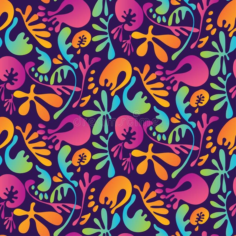 Modelo inconsútil floral colorido tropical abstracto ilustración del vector
